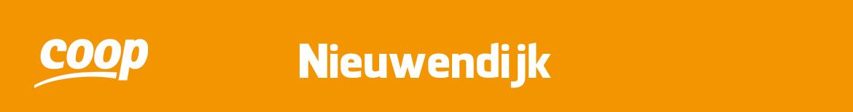 Coop Nieuwendijk Folder